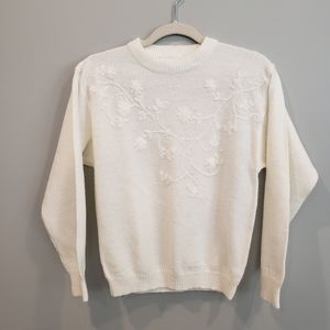 Vintage embroidered crewneck by FairSet - Small Petite
